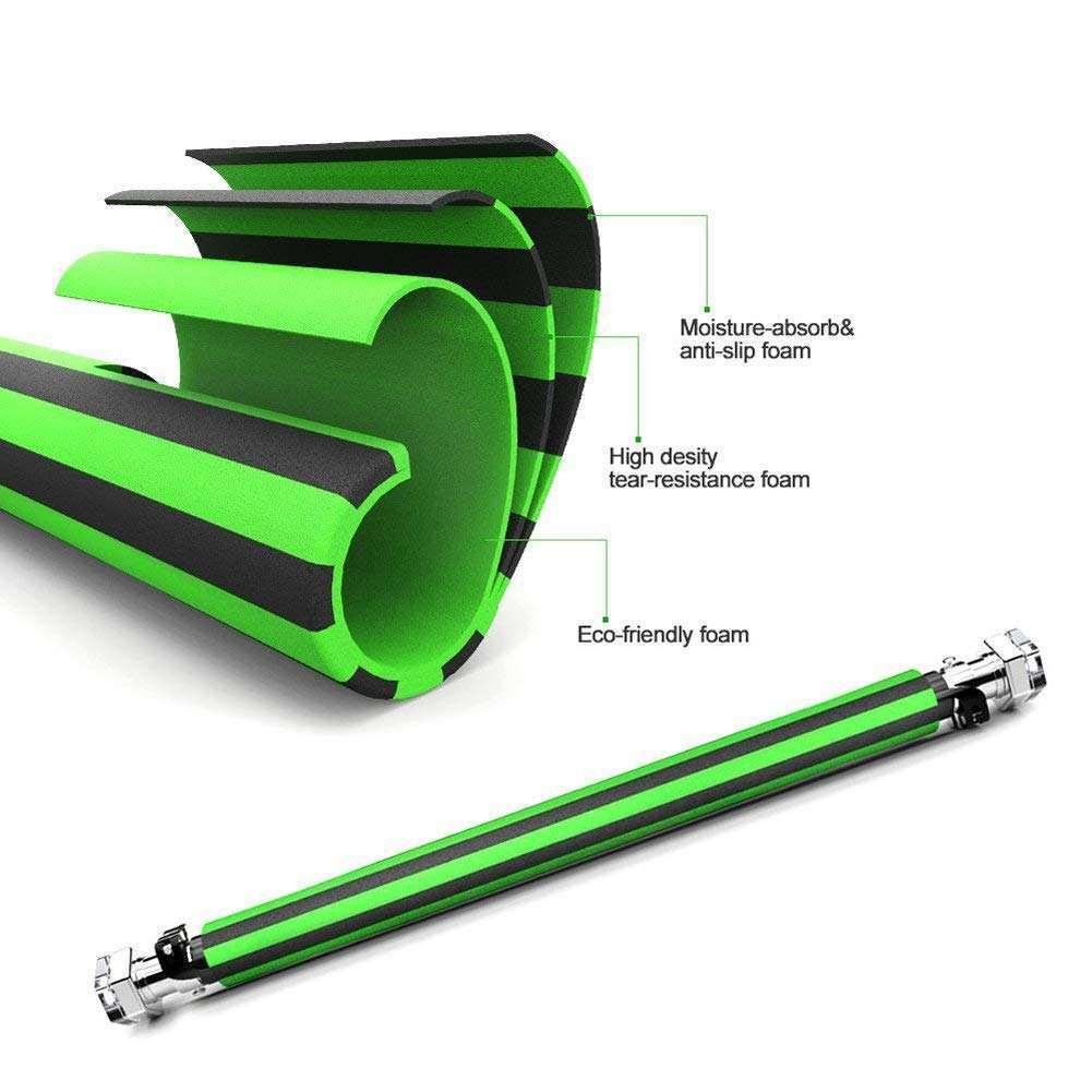 A diferencia de las barras de dominadas para puerta Decathlon, DOBEN incluye en su barra acolchado de espuma antideslizante