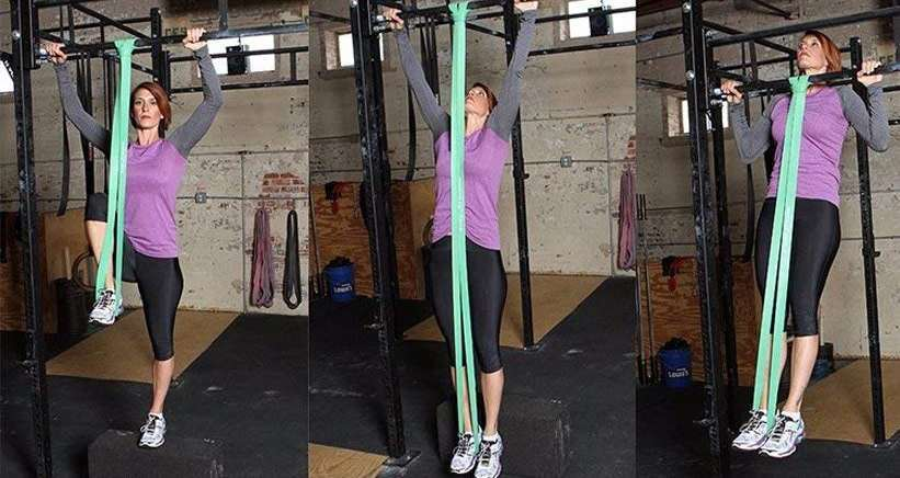Las bandas elásticas te permitirán progresar en múltiples ejercicios al ayudarte a superar el punto crítico inicial