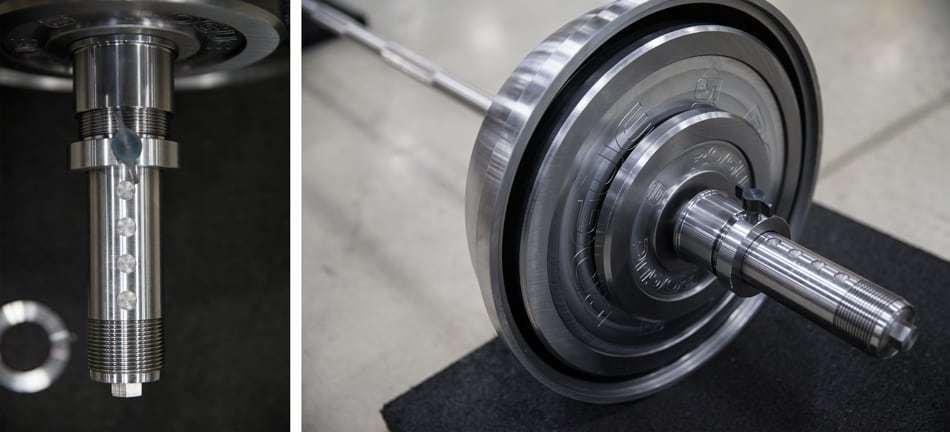 En el interior de las esferas podían encontrarse discos de pesas