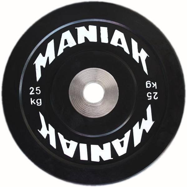 A la cabeza en cuanto a relación calidad-precio se encuentran los discos bumper Black Series de la española Maniak. Una apuesta segura para tu gimnasio casero.
