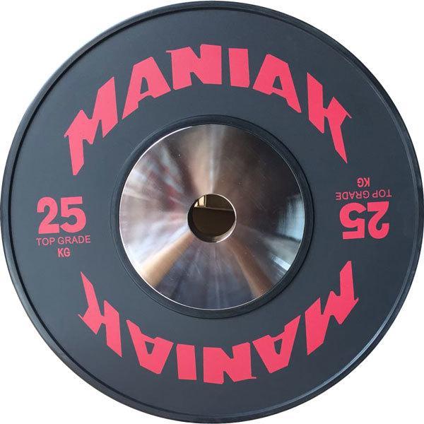 Con una clara apuesta por la durabilidad, los discos de halterofilia de la gama Top Grade de Maniak son otra apuesta segura para tu gimnasio en casa