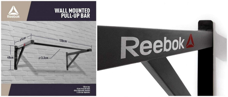La barra de dominadas para pared Reebok