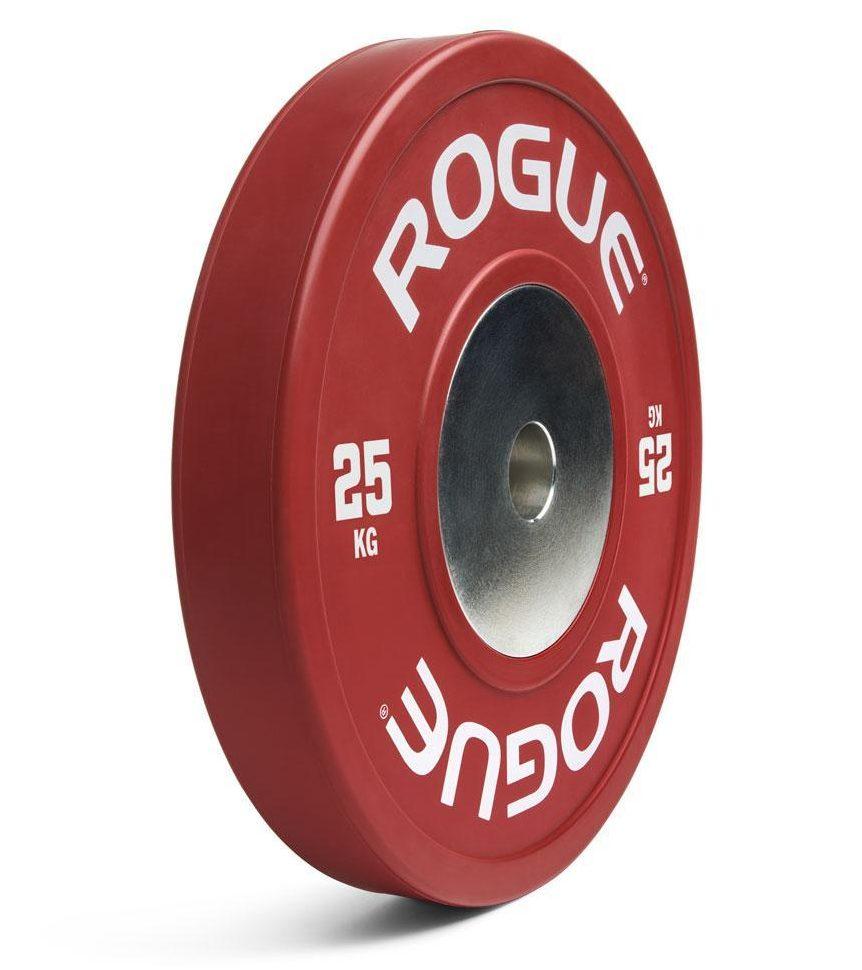 Discos bumper reglamentarios de Rogue: Calidad garantizada para tu gimnasio casero