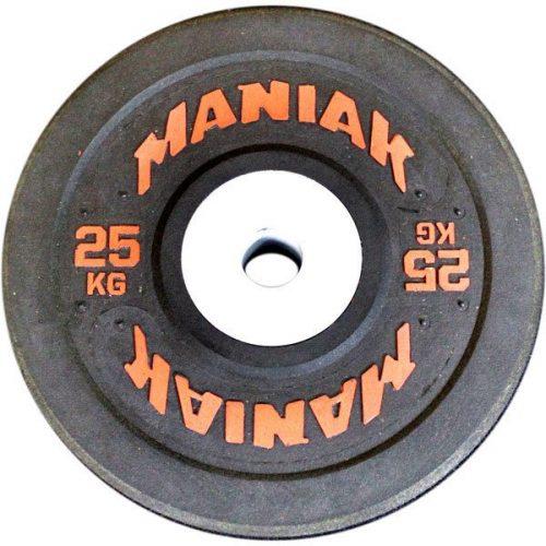 Con un rebote superior al de un disco de entrenamiento o competición tradicional, la gama de discos de goma Hi-temp de Maniak es u n seguro de calidad y reducción de vibraciones