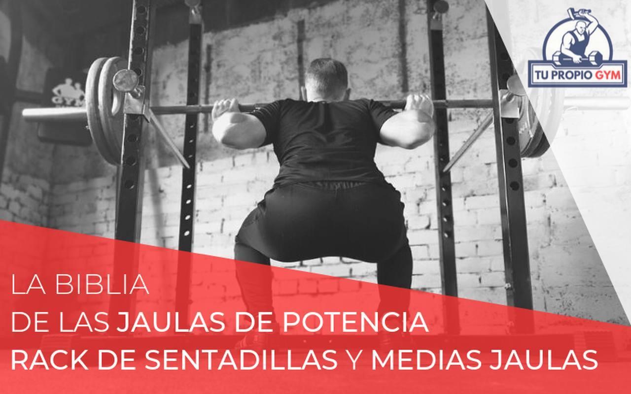 Capital Sports Tremendour Jaula de musculaci/ón acero, soportes seguridad, 4 ganchos en J, barra multiagarre, barras paralelas desmontables, pesas, press, flexiones