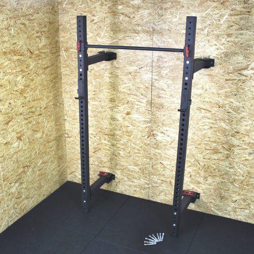 Si el espacio es tu problema, echa un vistazo al rack plegable gimnasio Maniak Top Grade