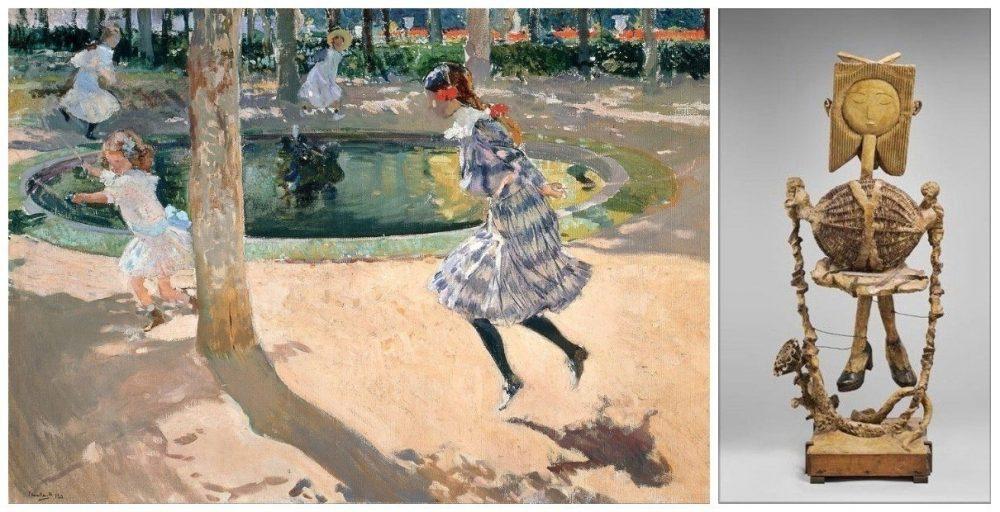 En España, el salto de la comba gozó de un gran éxito, como prueba su presencia en el arte