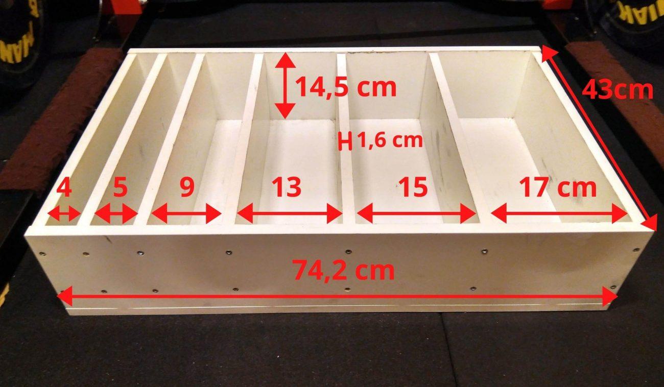 Rack para discos de pesas casero