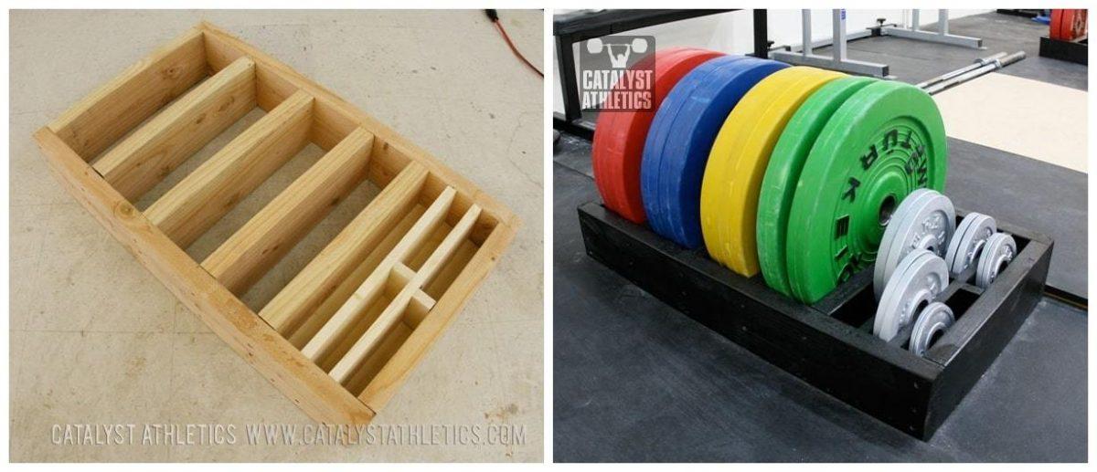 Rack para discos olímpicos casero